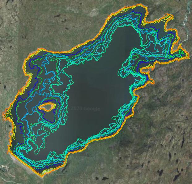 Data over reservoir